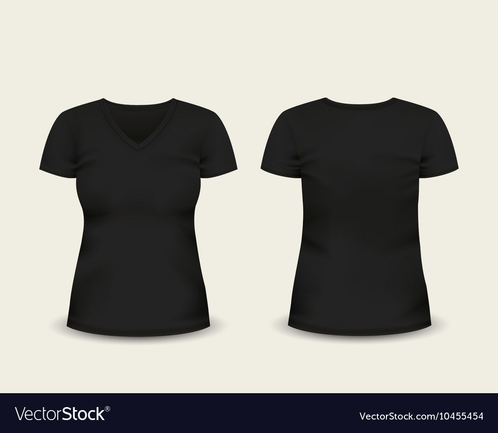 T Shirt Template Vector Unique Black V Neck T Shirt Template Royalty Free Vector Image