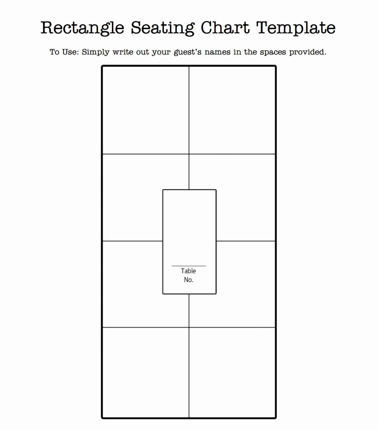 Table Seating Chart Template Awesome Wedding Seating Chart Template