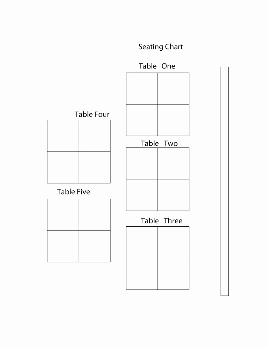 Table Seating Chart Template Fresh 40 Great Seating Chart Templates Wedding Classroom More