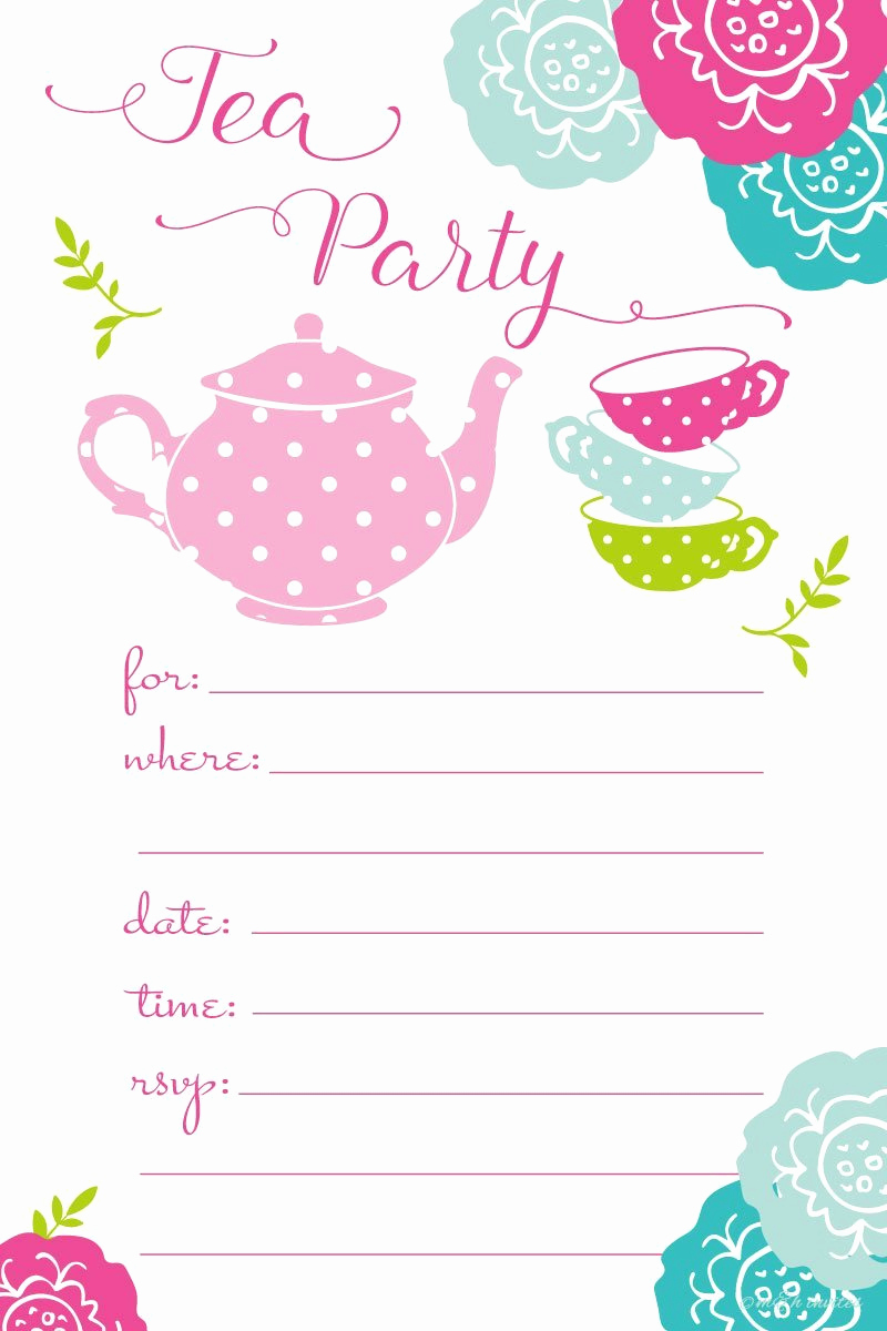Tea Party Invitation Templates Awesome Everything You Need for A Super Cute Kids' Tea Party Tea