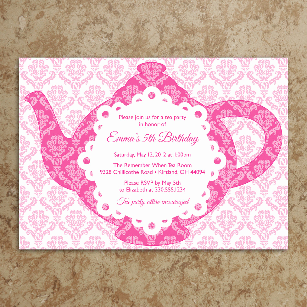 Tea Party Invitation Templates Beautiful Tea Party Invitation Diy Printable Pdf Tea by Designswithstyle