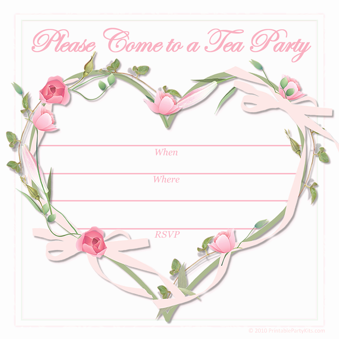 Tea Party Invitation Templates Best Of Free Printable Party Invitations Free Printable Pink Tea