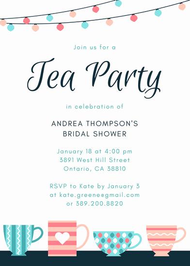 Tea Party Invitation Templates Elegant Customize 2 885 Tea Party Invitation Templates Online Canva