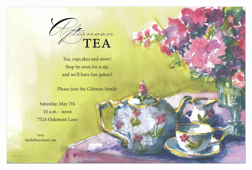 Tea Party Invitation Templates Elegant Tea Party Invitation