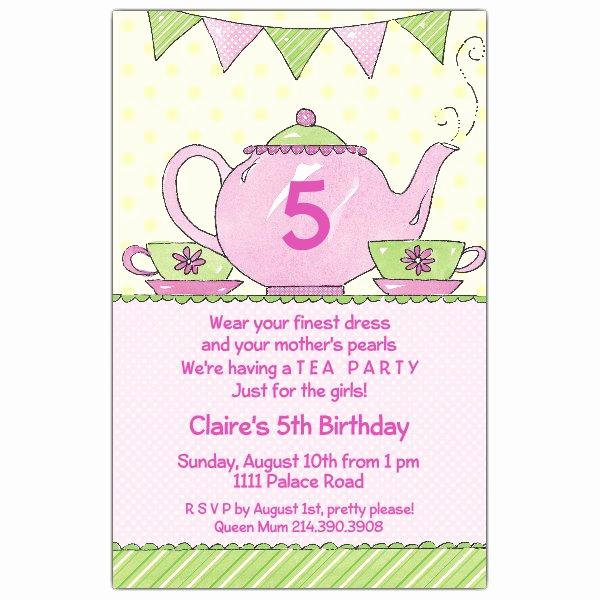 Tea Party Invitation Templates Elegant Tea Party Invitations