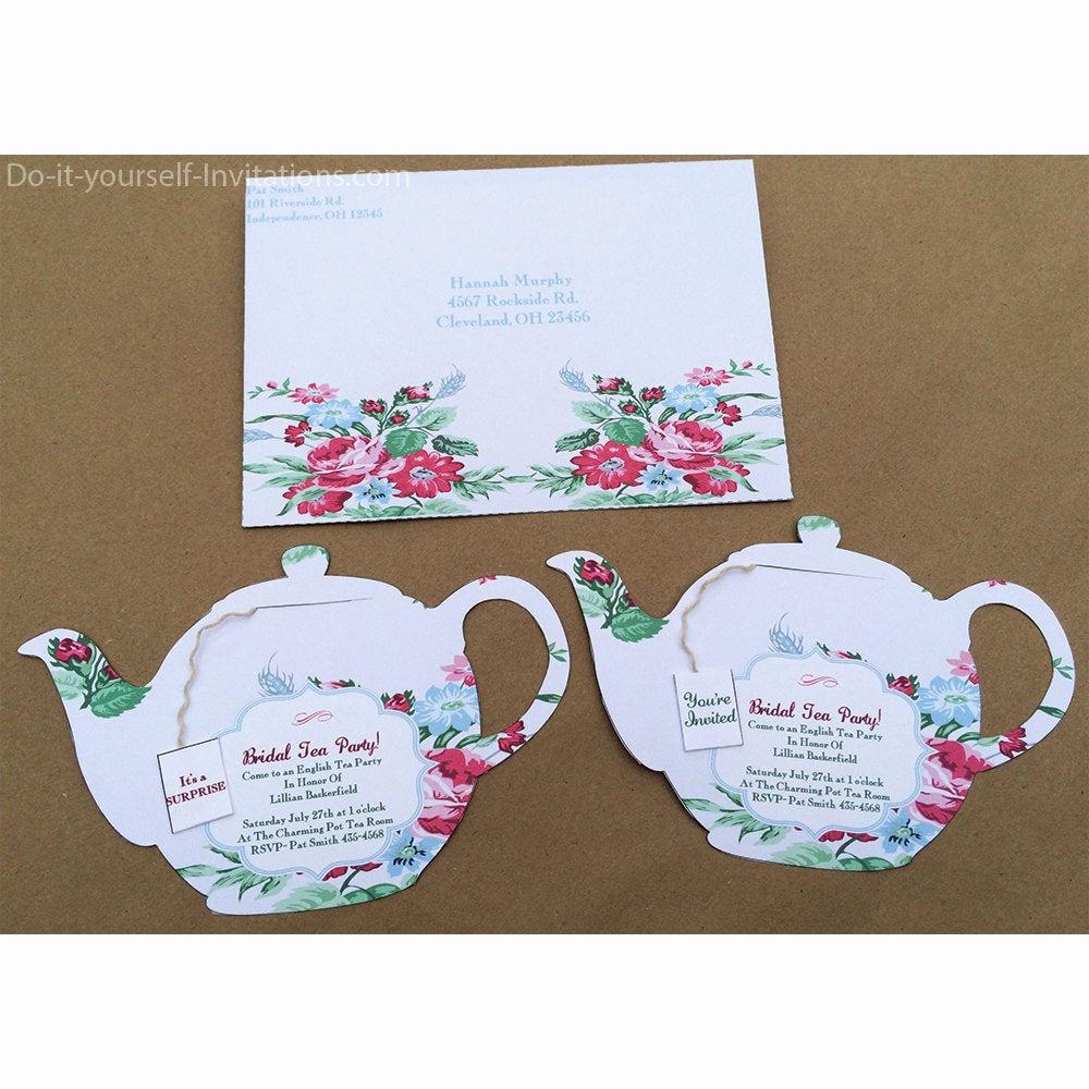 Tea Party Invitation Templates Lovely Printable Tea Party Invitation Bridal Tea Party Invitation