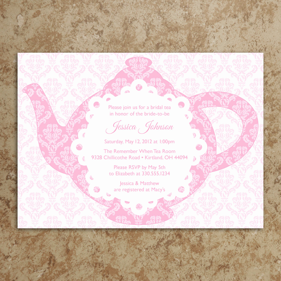 Tea Party Invitation Templates Lovely Tea Party Invitation Diy Printable Pdf Tea Party Invite