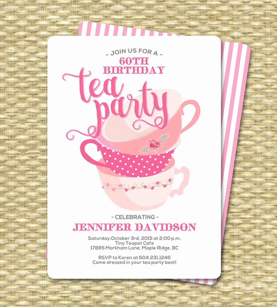 Tea Party Invitation Templates Luxury Birthday Tea Party Invitations Birthday Tea Party Invitation