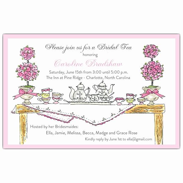 Tea Party Invitation Templates Luxury High Tea Invitations