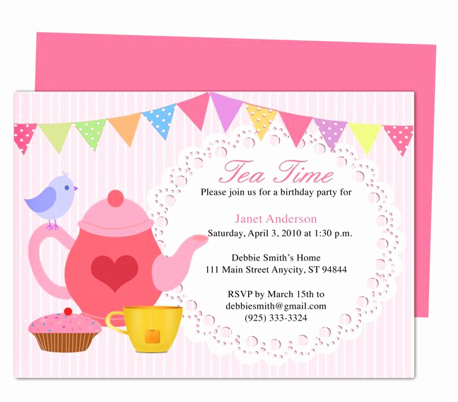 Tea Party Invitations Templates Awesome afternoon Tea Party Invitation Party Templates Printable