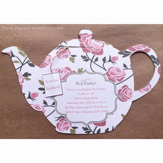 Tea Party Invitations Templates Beautiful Printable All Occasion Tea Party Invitation Tea Pot