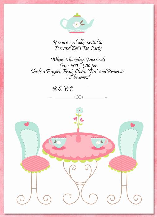 Tea Party Invitations Templates Elegant Hybrid Scrapbooking and More Invitations