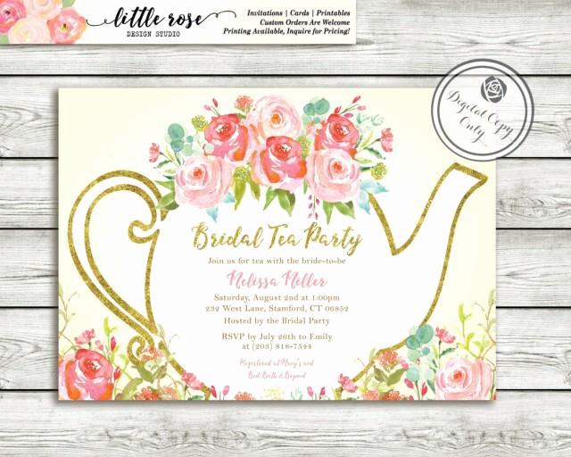 Tea Party Invitations Templates Fresh Garden Tea Party Bridal Shower Invitation High Tea