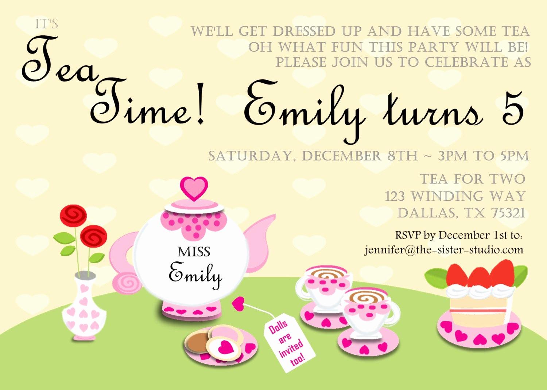 Tea Party Invitations Templates Fresh Item Details