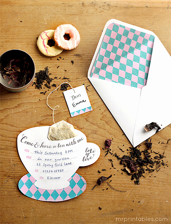 Tea Party Invitations Templates Fresh Printable Tea Party Invitations Mr Printables