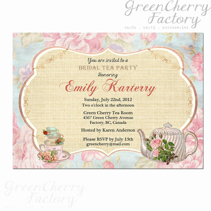 Tea Party Invitations Templates Lovely 209 Best Images About Tea Paper Crafts Printables On