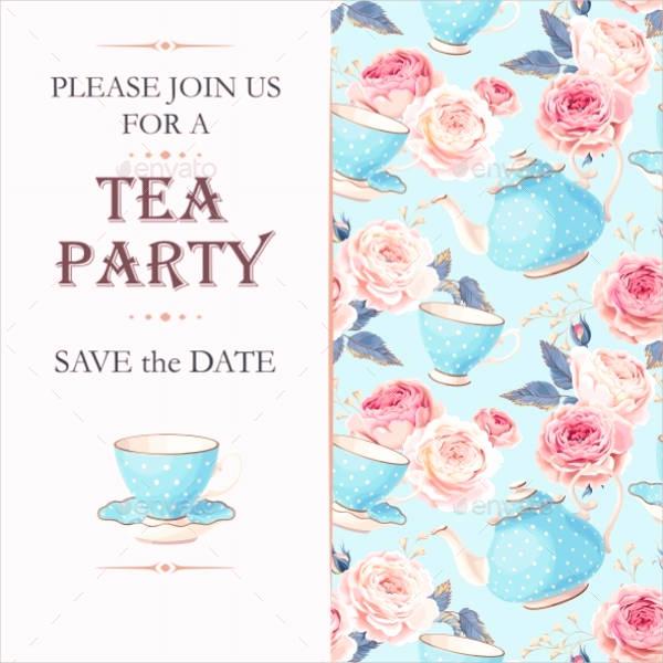 Tea Party Invitations Templates Luxury 9 Tea Party Invitation Templates Free Download