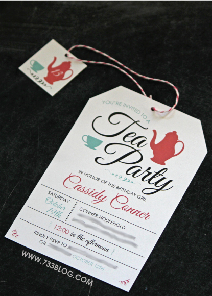 Tea Party Invitations Templates New Free Printable Tea Party Birthday Invite Inspiration