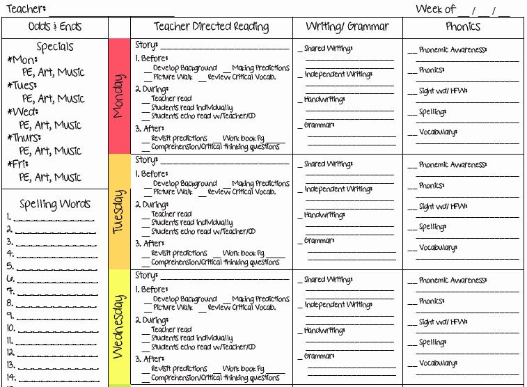 Teacher Lesson Plan Template Elegant A Teacher S Plan Two New Lesson Plan Templates
