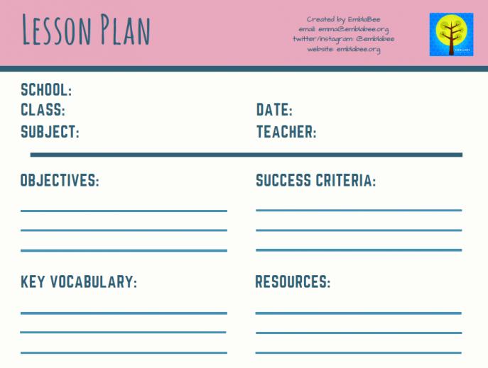 Teacher Lesson Plan Template Luxury 11 Free Lesson Plan Templates for Teachers