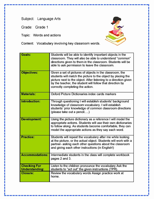 Teacher Lesson Plan Template New Daily Lesson Plan Template