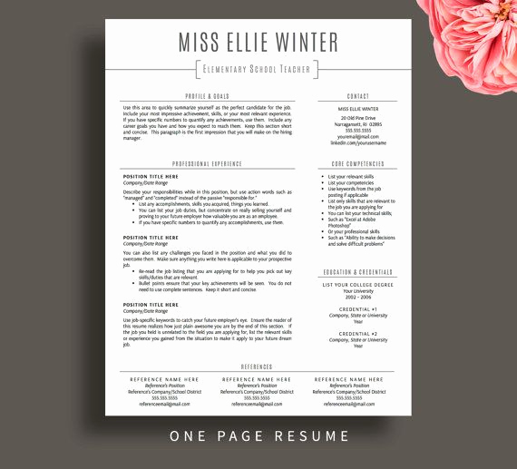 Teacher Resume Template Free Inspirational Best 25 Teacher Resume Template Ideas On Pinterest