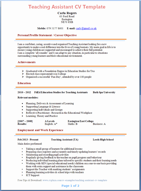 Teacher Resume Template Word Awesome Pin by Teachers Reasumes On Teachers Resumes