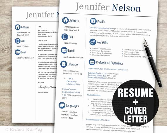 Teacher Resume Template Word Best Of Teacher Resume Template Word Cover Letter Template Instant