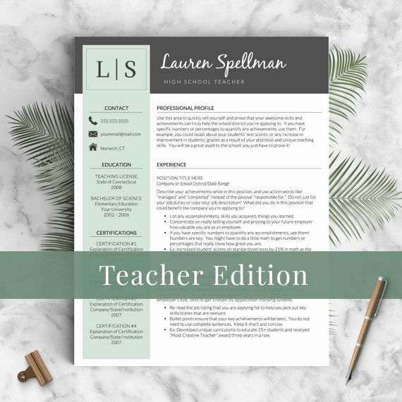 Teacher Resume Template Word Unique Best 25 Teacher Resume Template Ideas On Pinterest