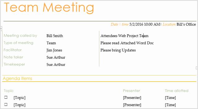 Team Meeting Agenda Template Unique 15 Best Meeting Agenda Templates for Word