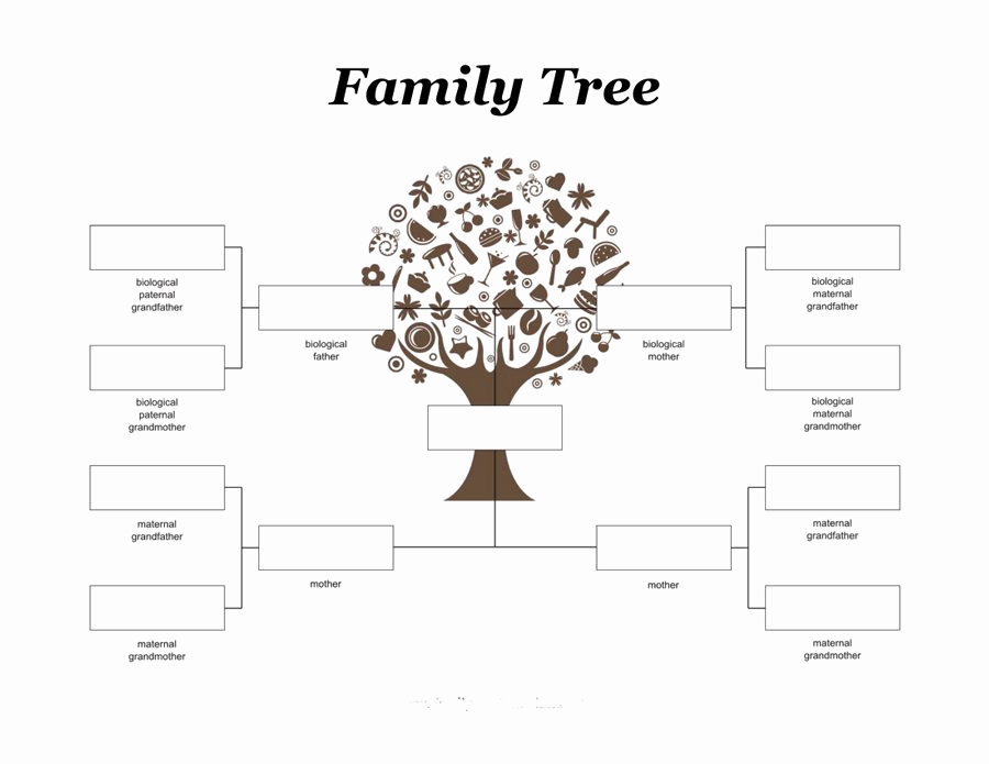 Template for Family Tree Elegant Family Tree for Kids