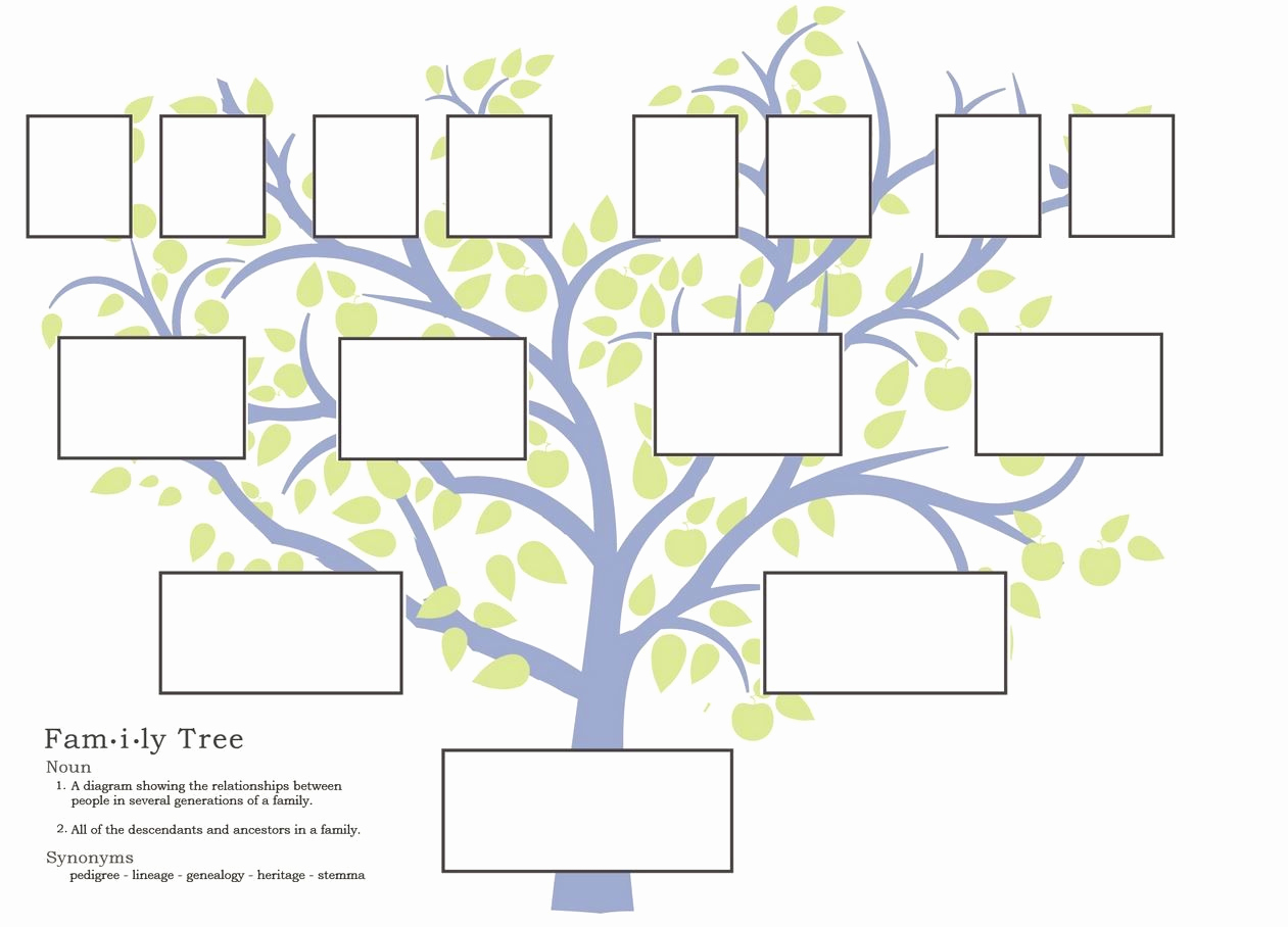 Template for Family Tree Inspirational Free Family Tree Template to Print Google Search
