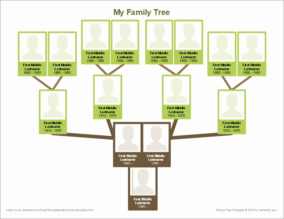 Template for Family Tree Unique Free Family Tree Template