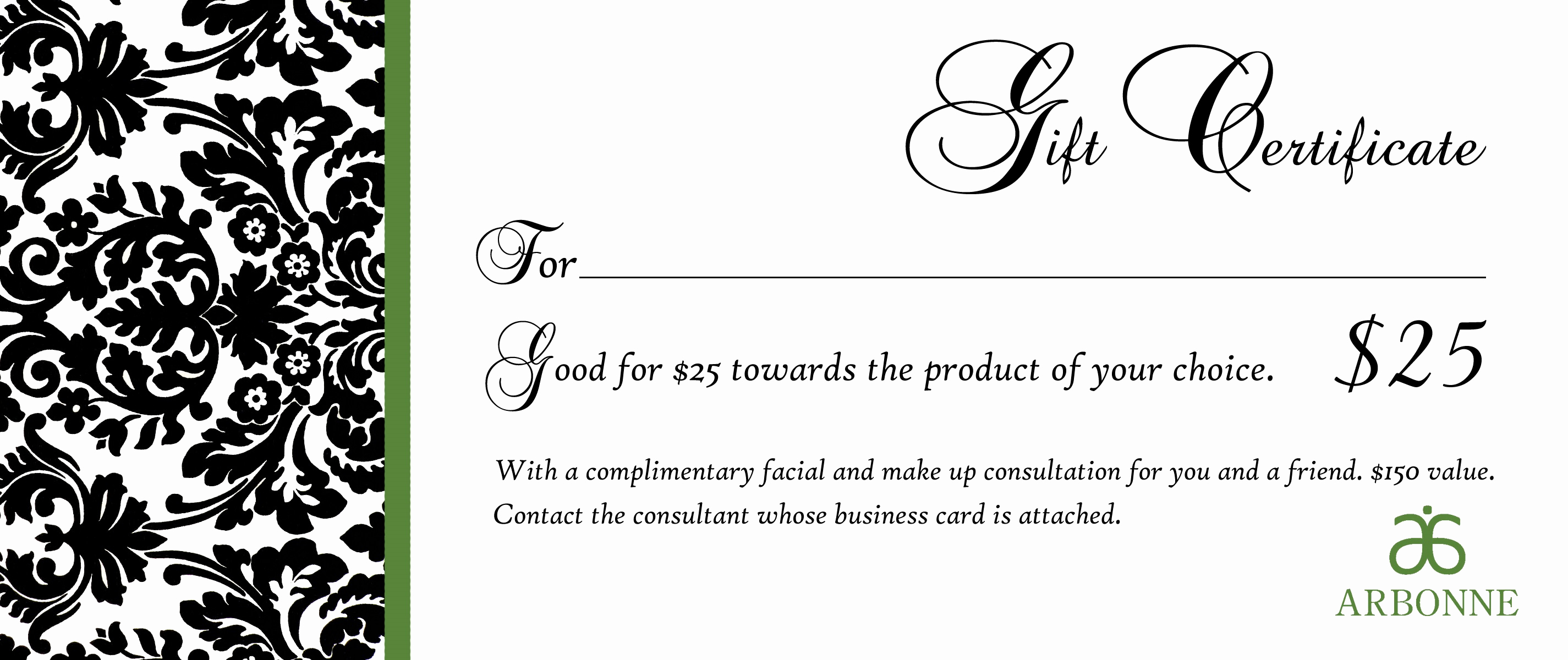 Template for Gift Certificate Awesome Gift Certificate Templates to Print