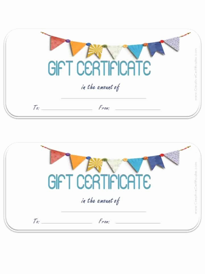 Template for Gift Certificate Best Of Free Gift Certificate Template Customizable