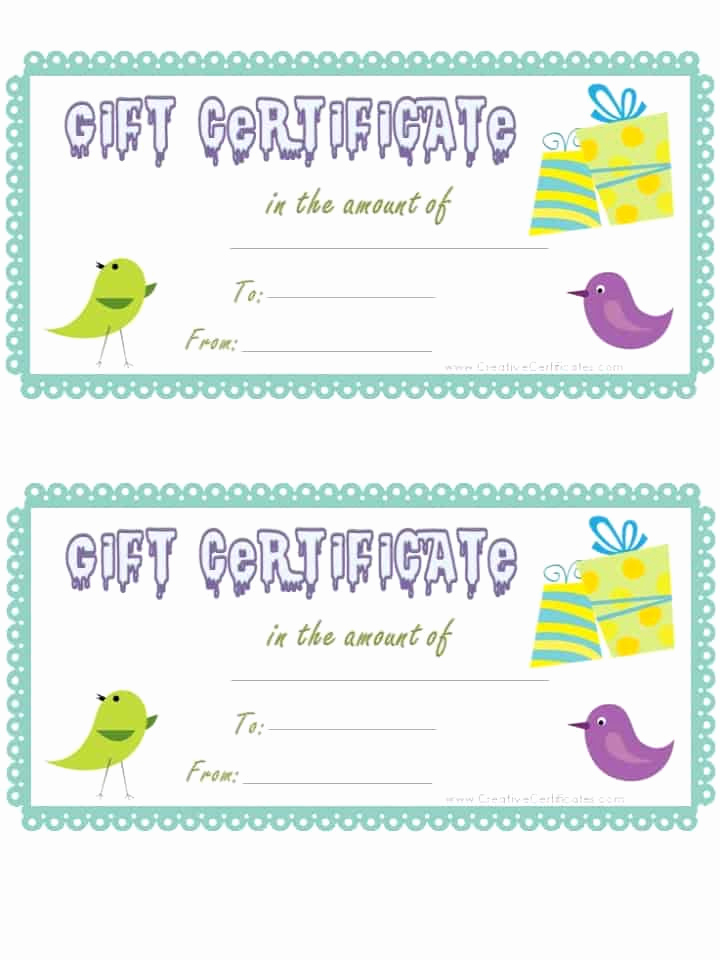 Template for Gift Certificate Best Of Free Gift Certificate Template