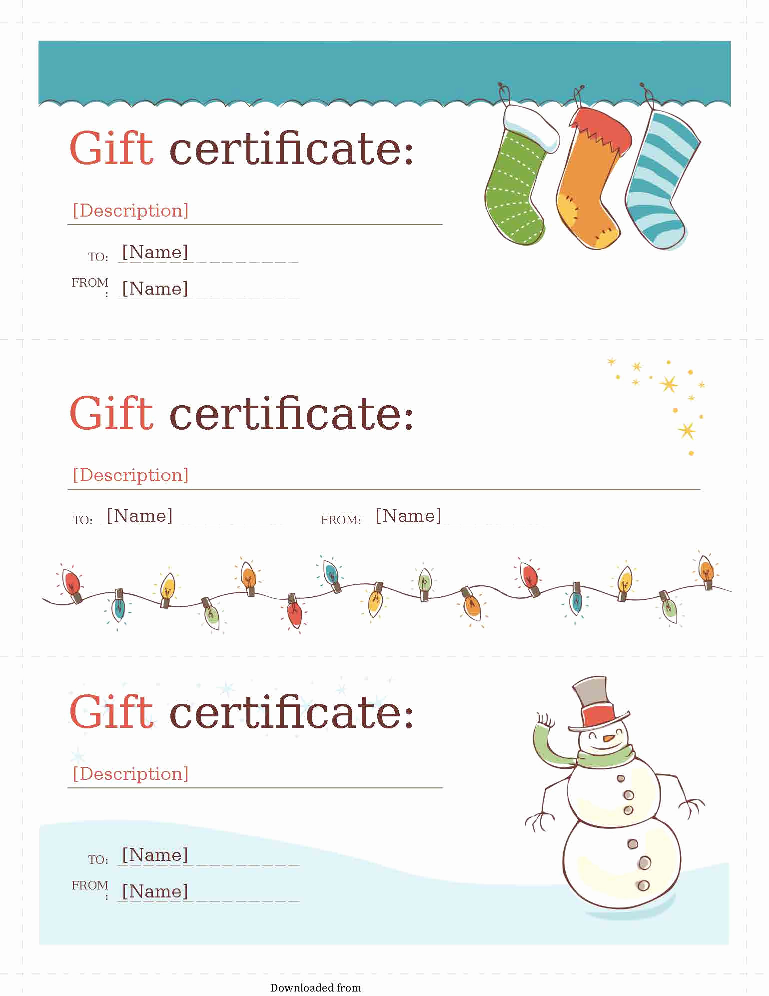 Template for Gift Certificate Fresh Gift Certificate Template 2 Pdf Pdf format