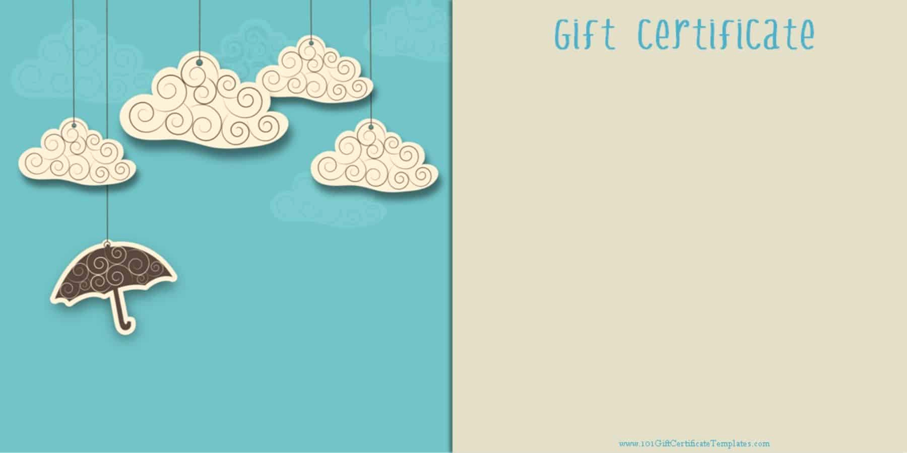 Template for Gift Certificate Fresh Printable Gift Certificate Templates