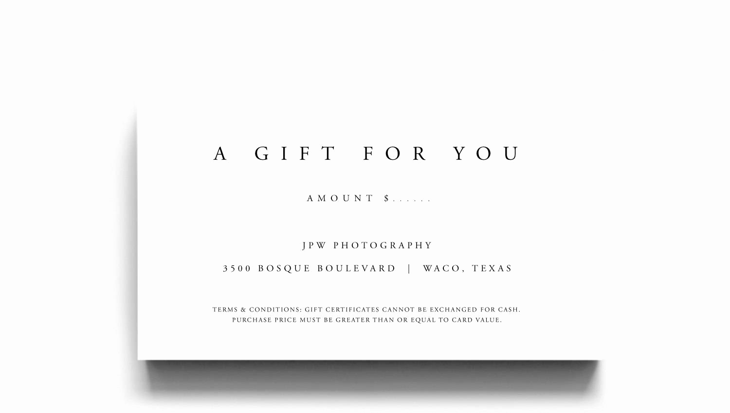 Template for Gift Certificate Inspirational Gift Certificate Template A Gift for You Gift Voucher