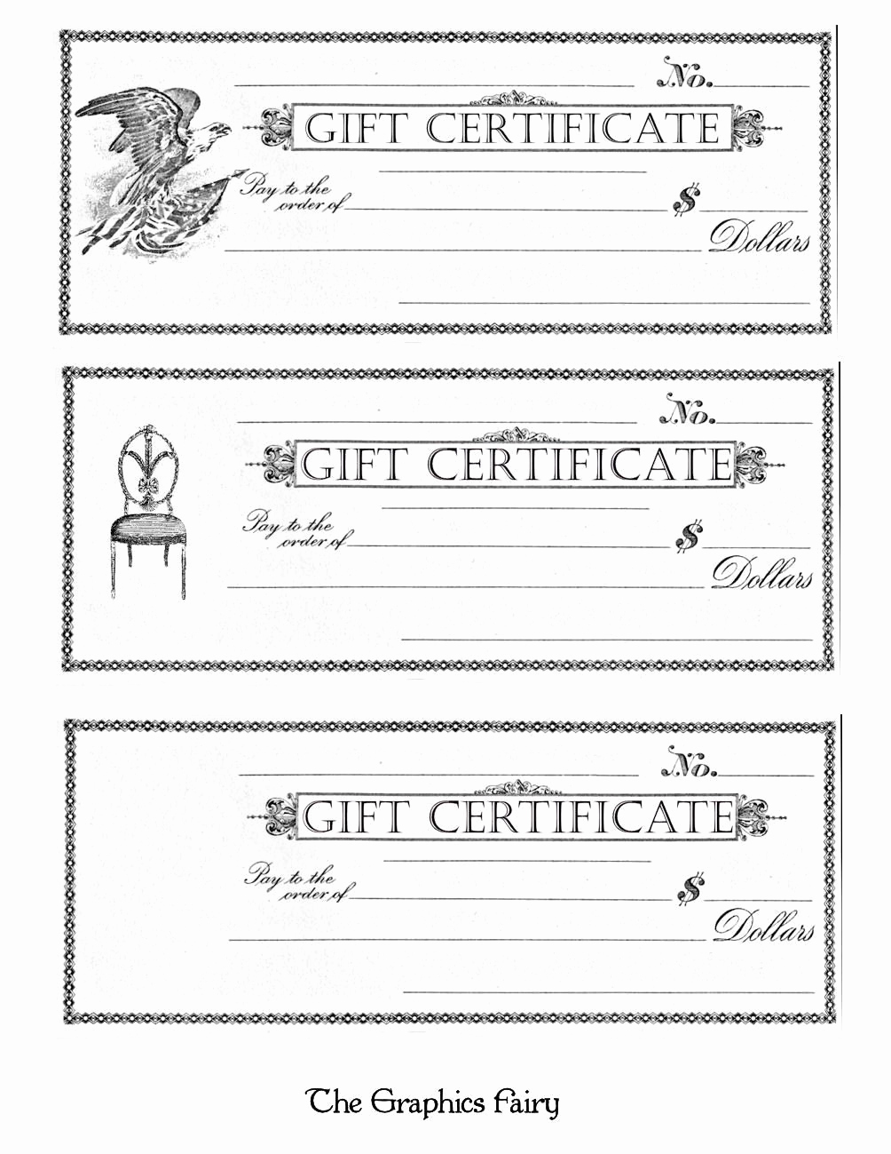 Template for Gift Certificate Luxury Free Printable Gift Certificates