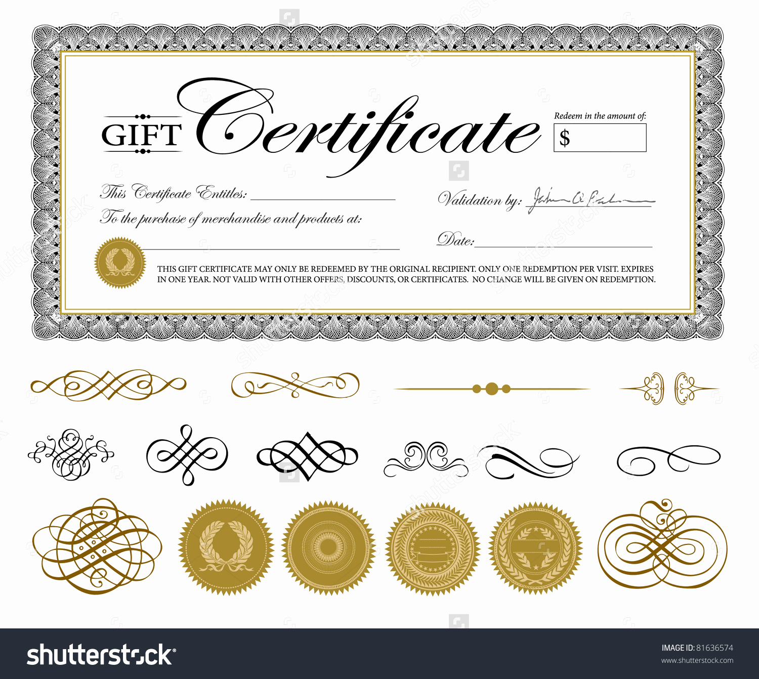 Template for Gift Certificate Luxury Gift Certificate Template
