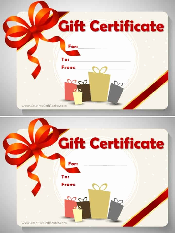 Template for Gift Certificate New Free Gift Certificate Template Customizable