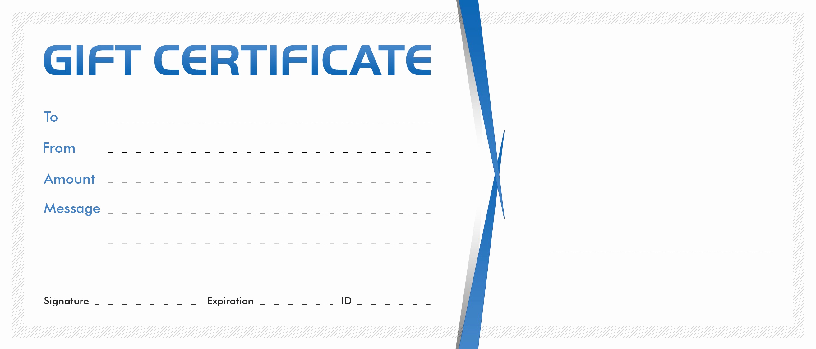 Template for Gift Certificate New Gift Certificate Blank Template – Gift Voucher Gift