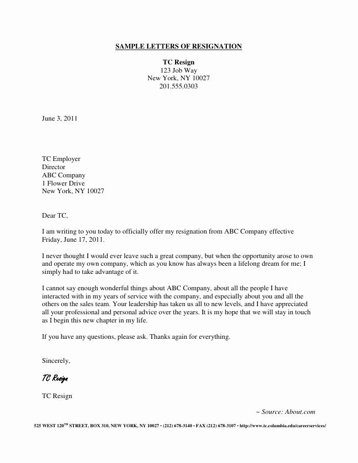 Template for Resignation Letter Inspirational Resignation Letter Samples Download Pdf Doc format