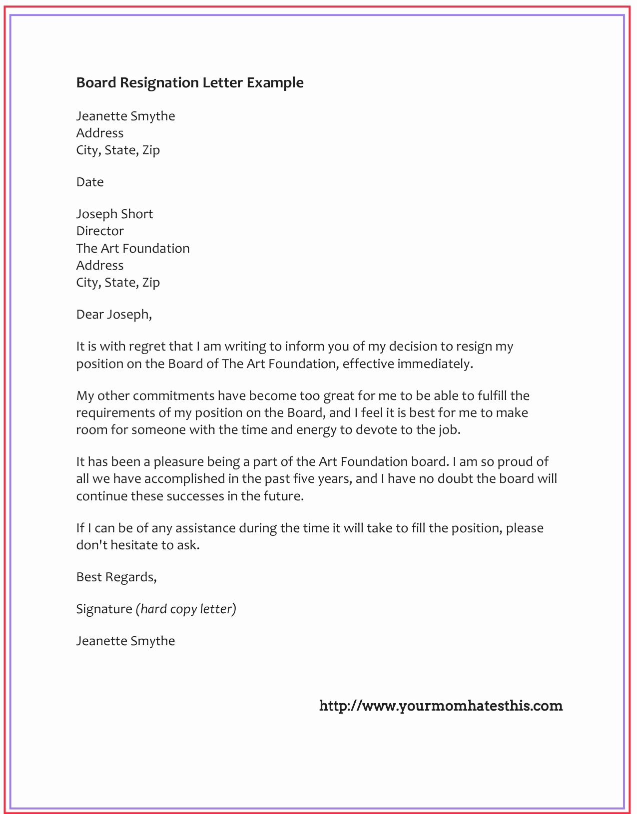 Template for Resignation Letter Unique Dos and Don'ts for A Resignation Letter