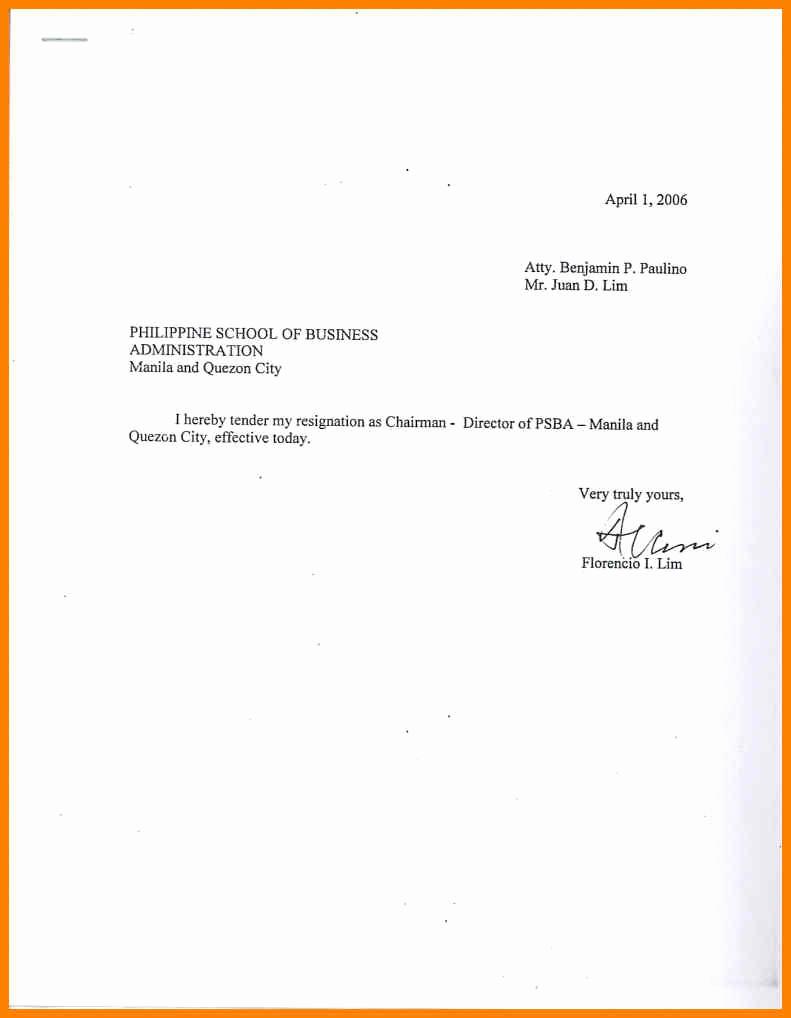 Template for Resignation Letter Unique Sample Simple Resignation Letter