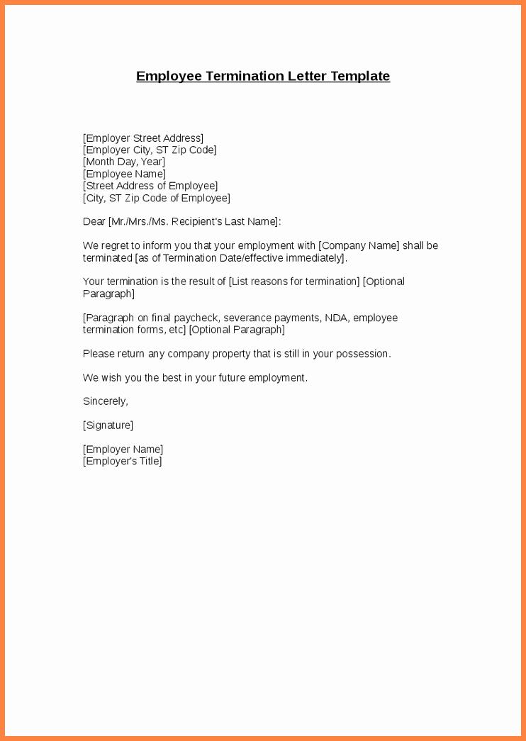 Termination Letter to Employee Elegant 11 Employee Termination Announcement
