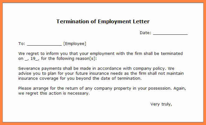 Termination Letter to Employee Luxury 11 Employment Termination Notice Sample
