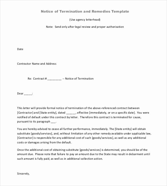 Termination Of Contract Letter Lovely 21 Contract Termination Letter Templates Pdf Doc