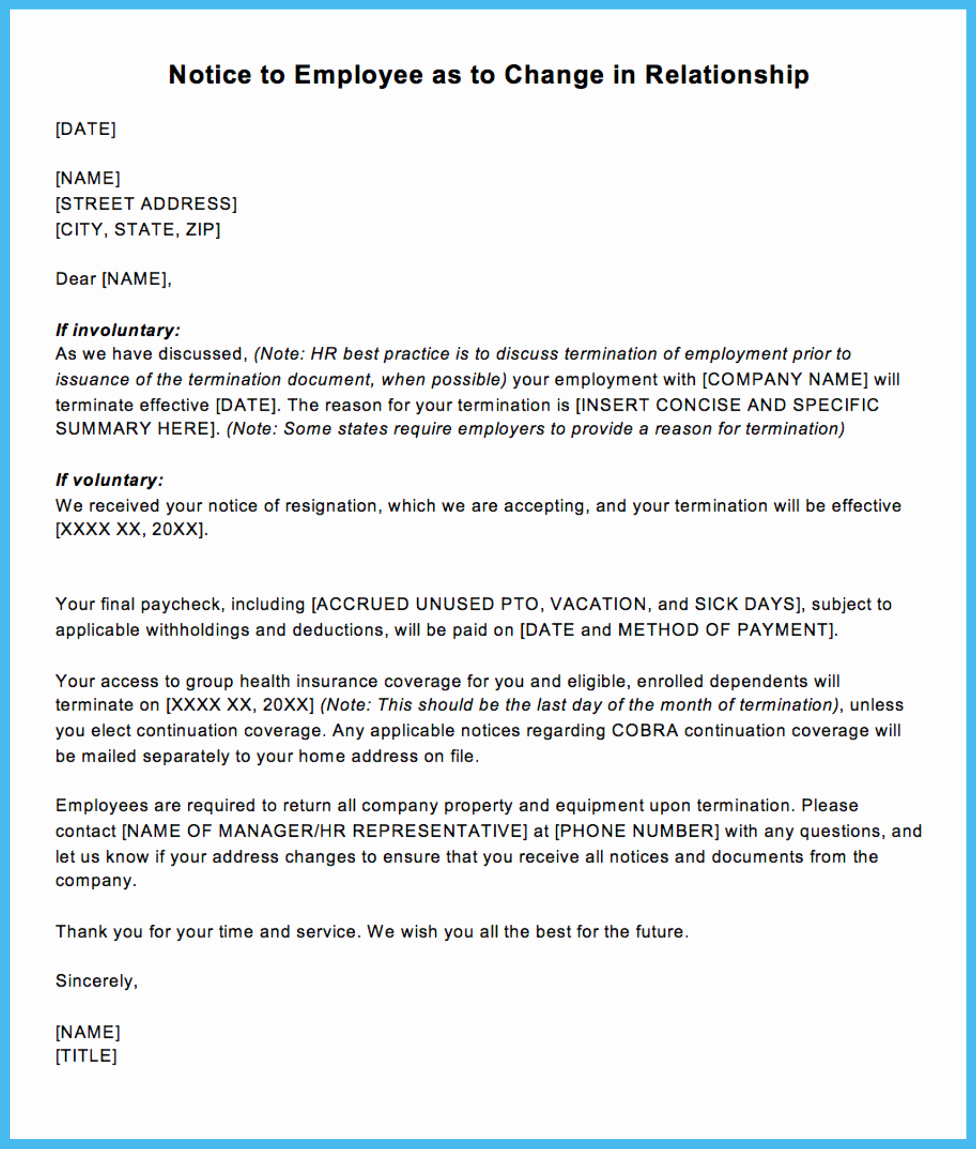 Termination Of Employment Letter Beautiful Sample Termination Letter for Letting An Employee Go